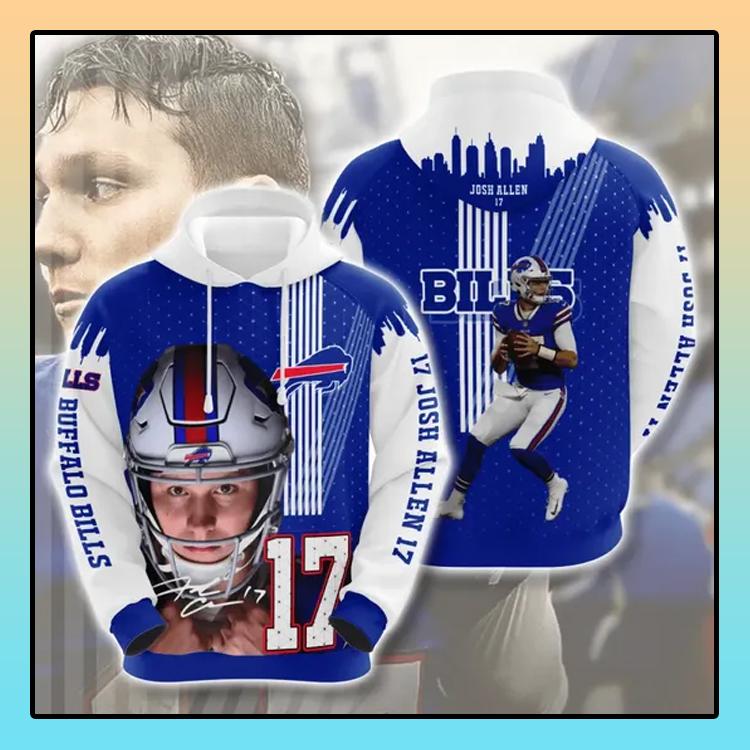 Josh Allen 17 Buffalo Bills All over print 3d hoodie4 1