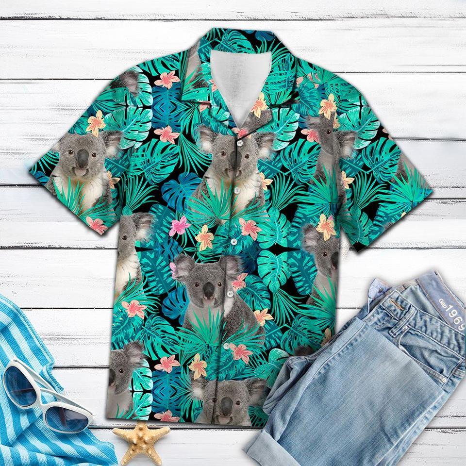 Koala tropical hawaiian shirt