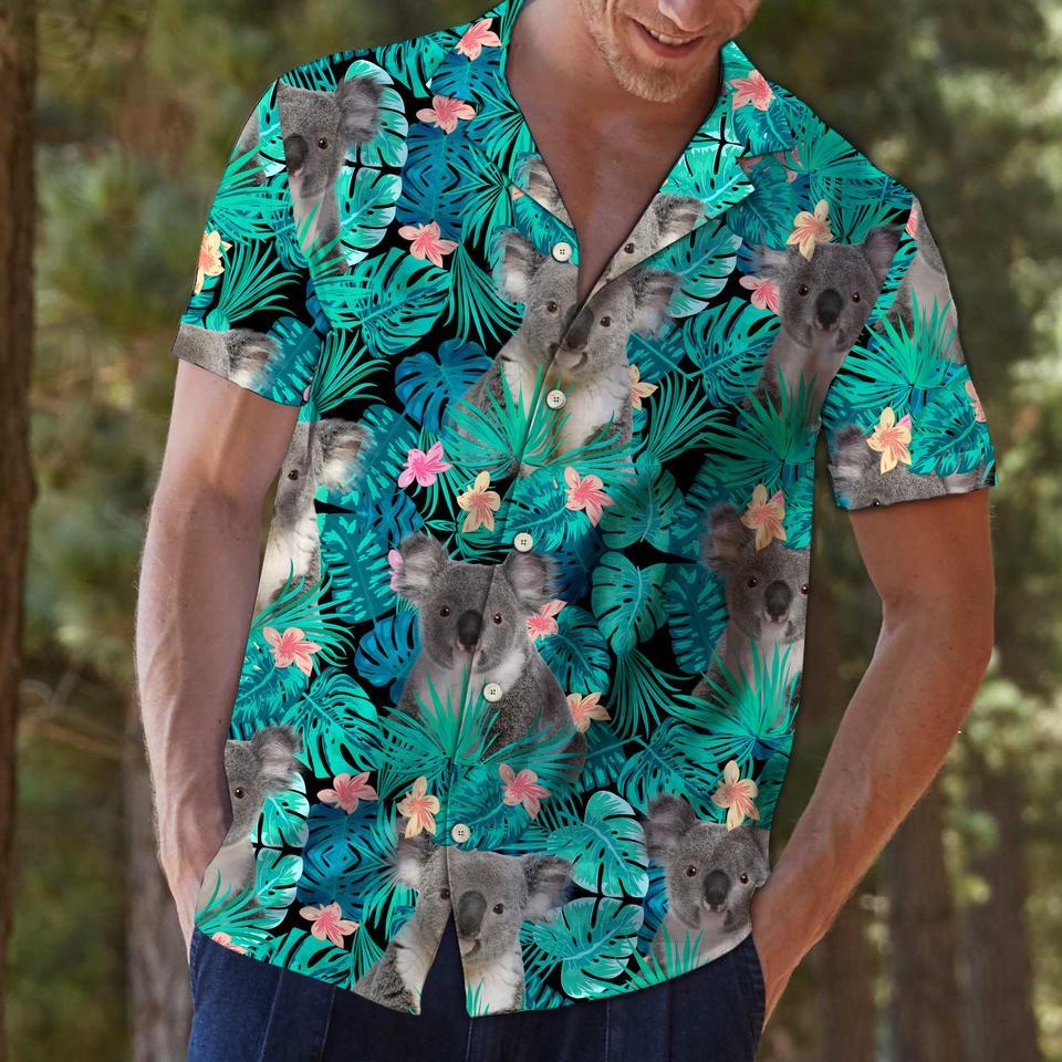 Koala tropical hawaiian shirt2