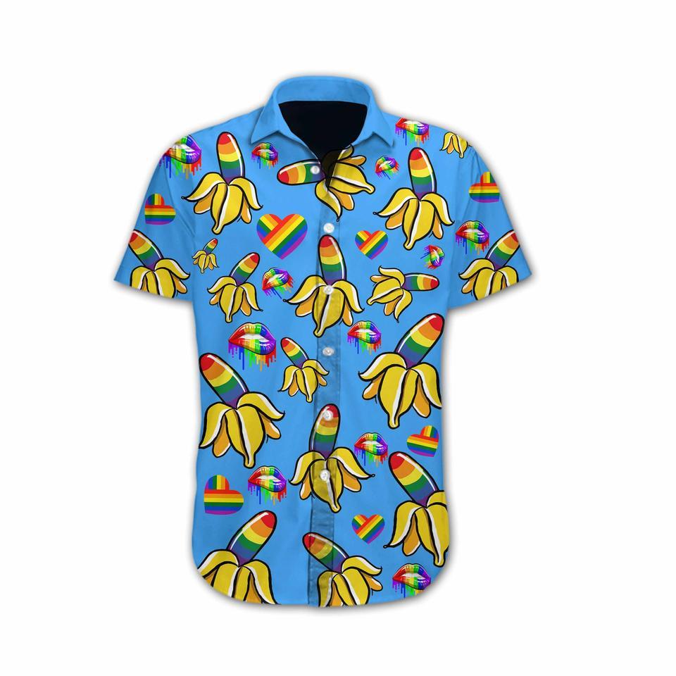 LGBT banana hawaiian shirt1