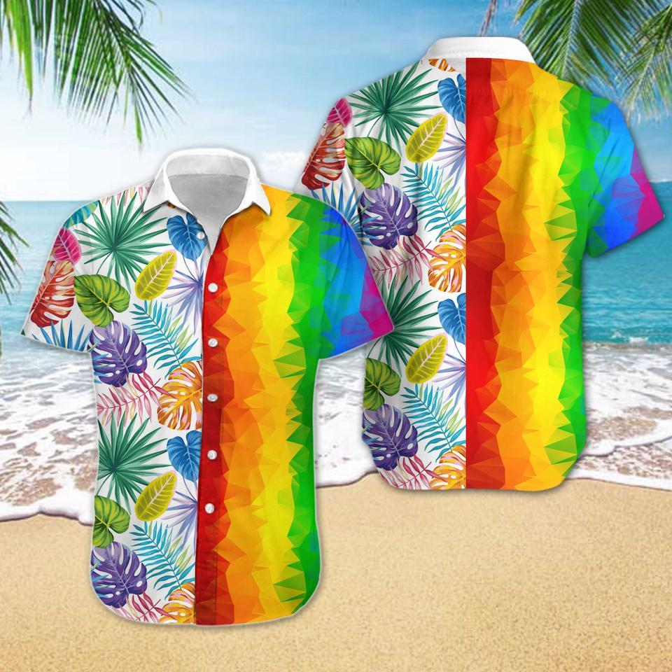 LGBT low poly hawaiian shirt