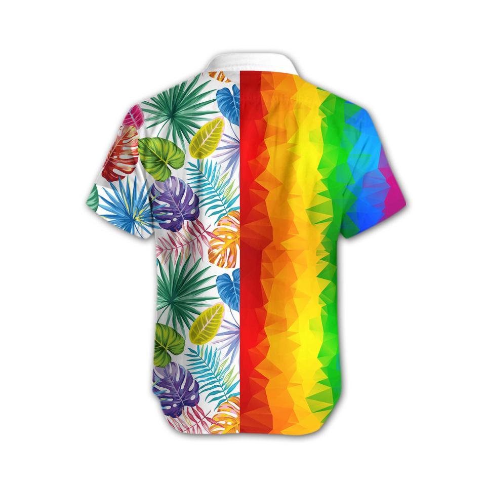 LGBT low poly hawaiian shirt3