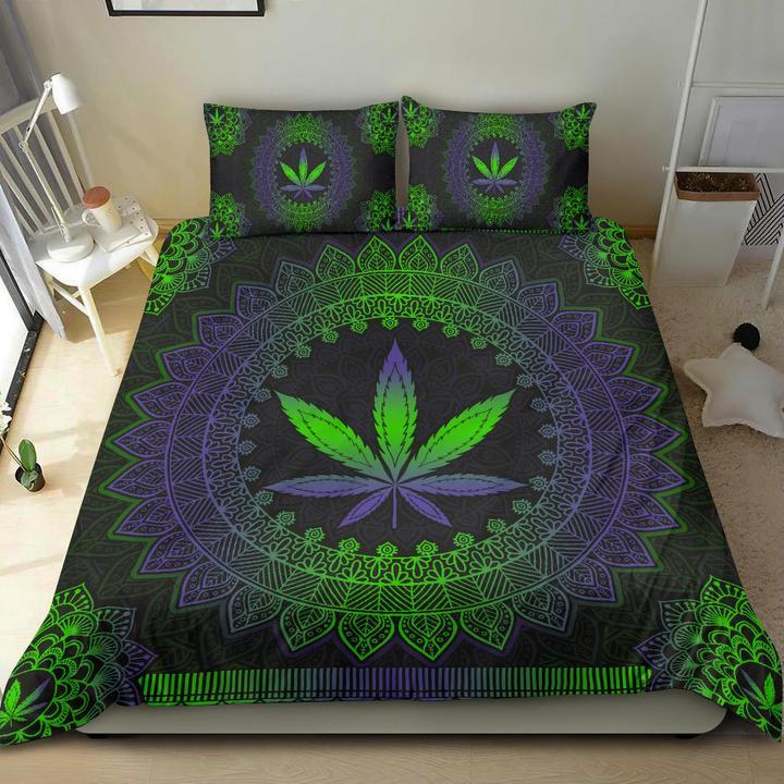 Mandala leaf bedding set 1