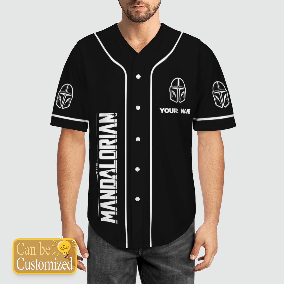 Mandalorian custom name baseball shirt 2