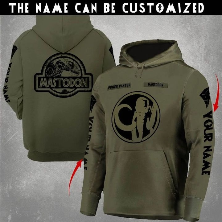 Mastodon Mighty Morphin Power Rangers symbol hoodie