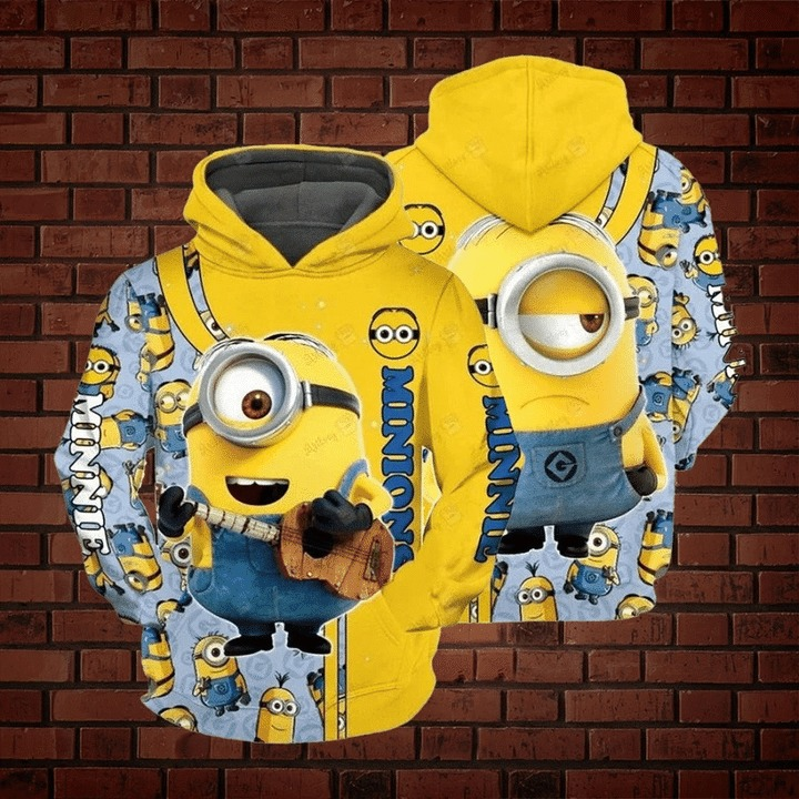 Minions 3d all over print hoodie 1