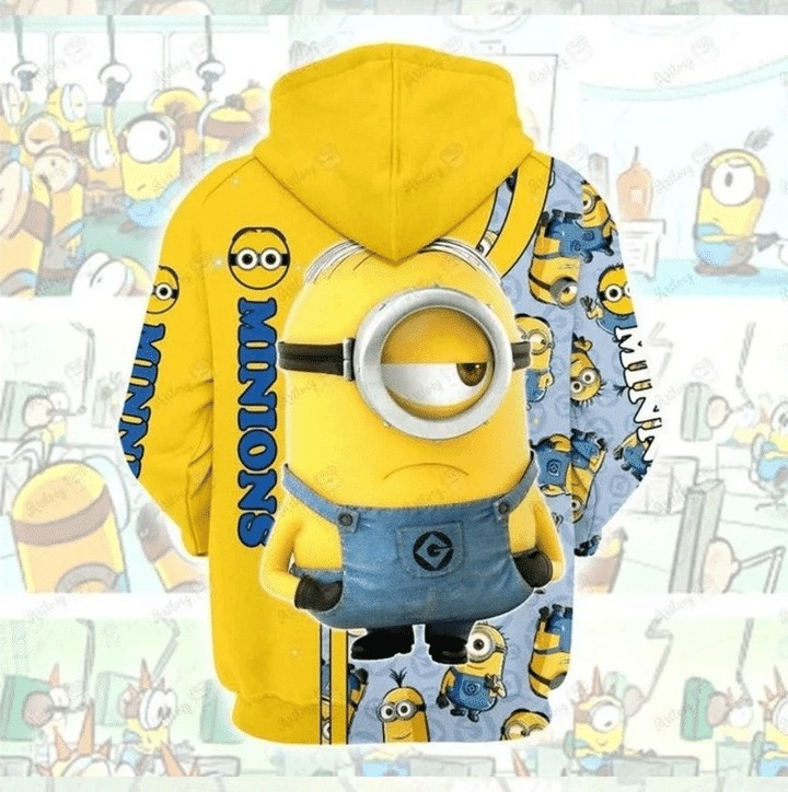 Minions 3d all over print hoodie 3