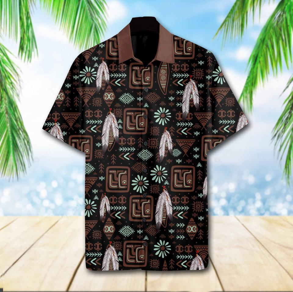 Native pattern hawaiian shirt