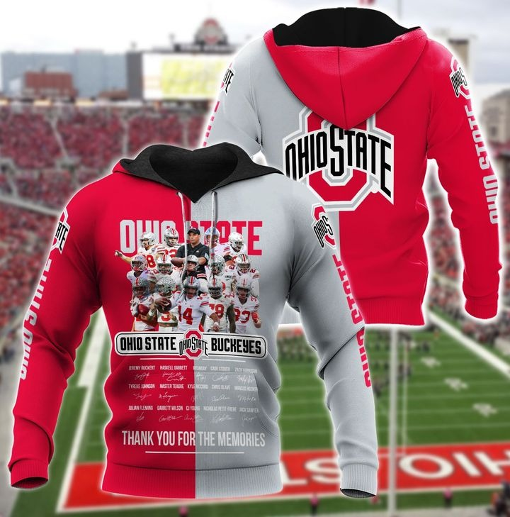 Ohio state buckeyes thank for the memories 3d hoodie 1