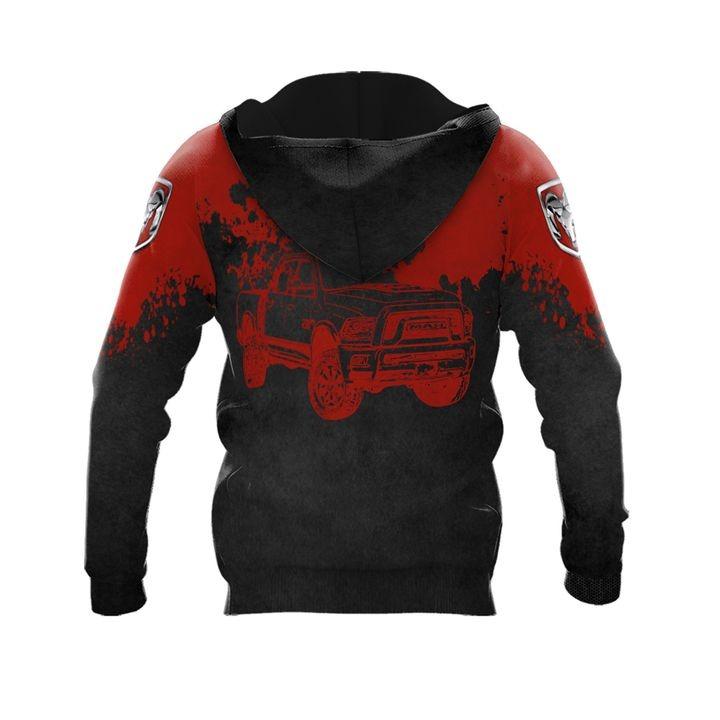 Ram truck punisher skull 3d over print hoodie 2