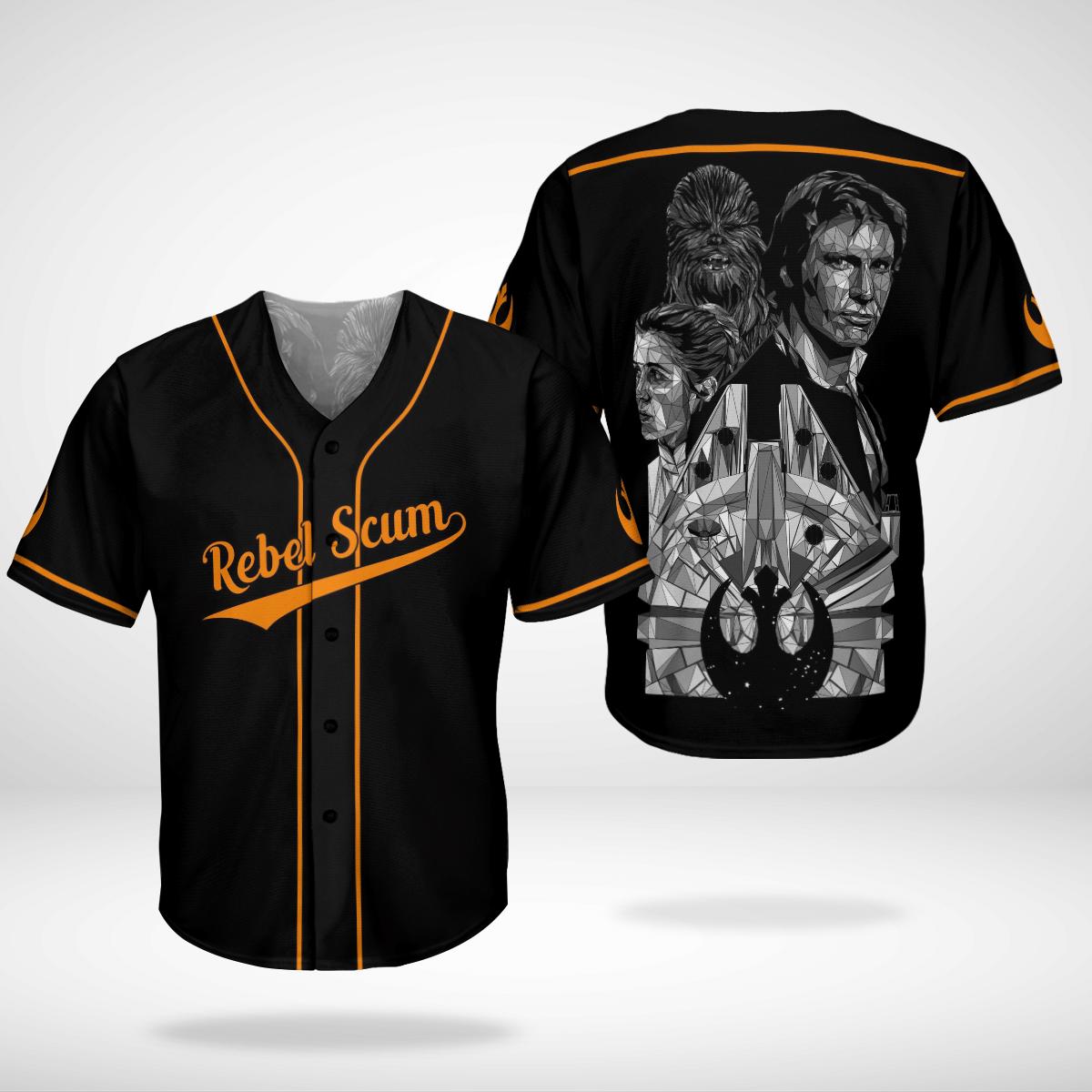 Rebel Scrum baseball shirt