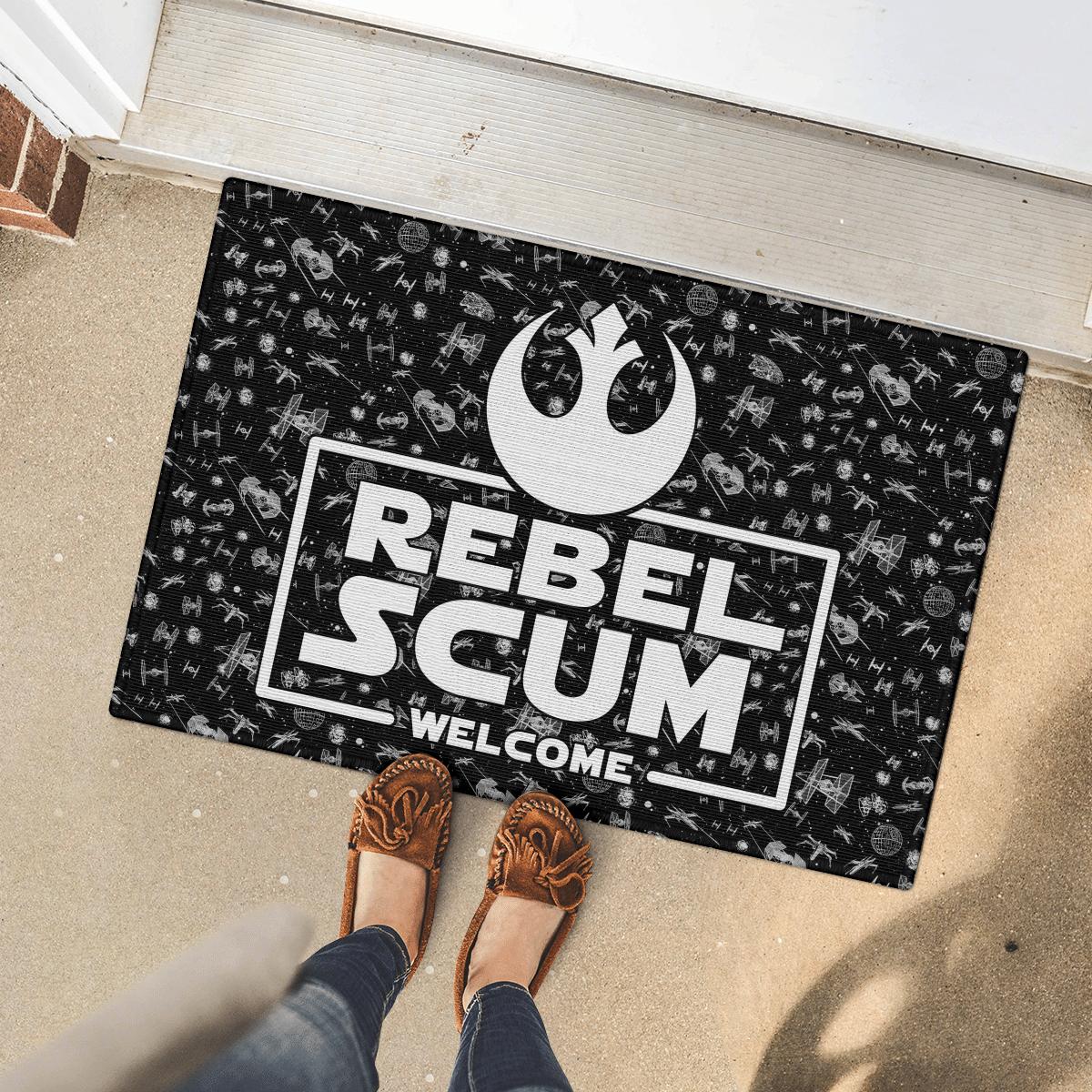 Star War Rebel Scrum welcome doormat