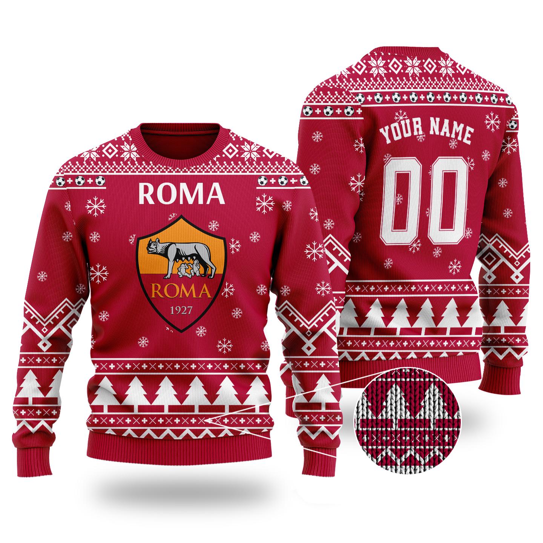 Roma custom name wool sweater