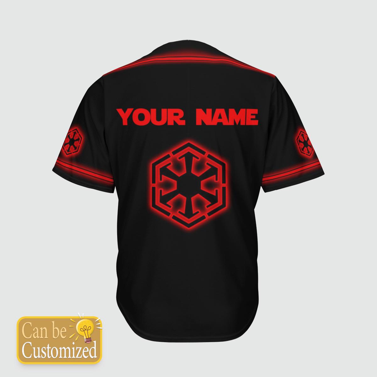 Sith Empire custom name baseball shirt 1