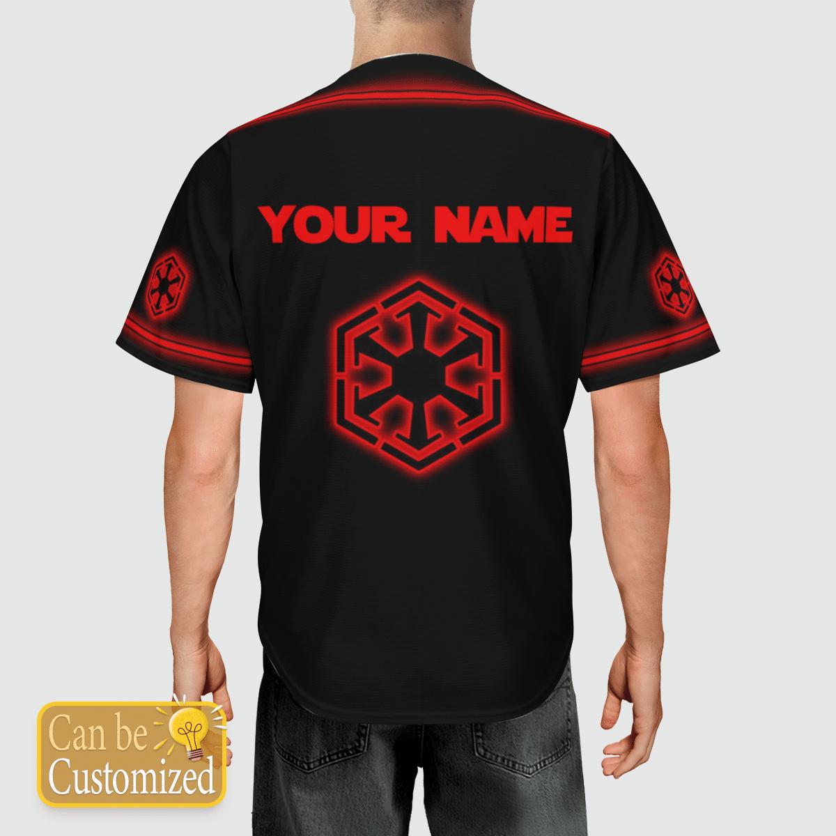 Sith Empire custom name baseball shirt 3
