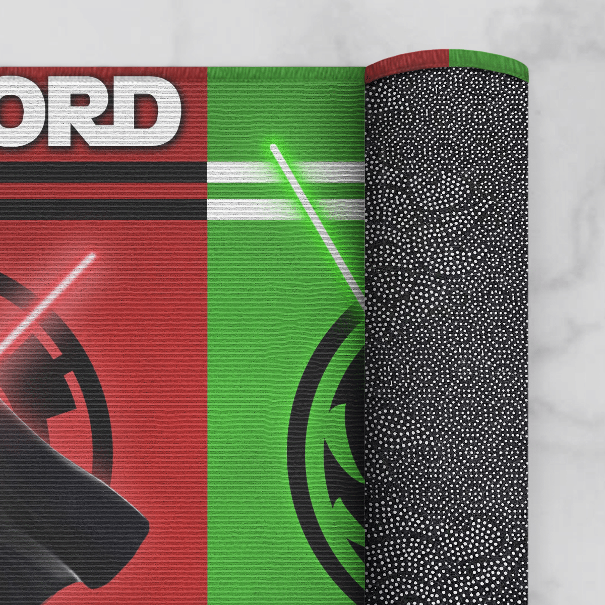 Sith Lord and Jedi house divided doormat3