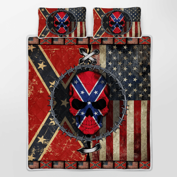 Skull American Flag The Southern Bedding Set