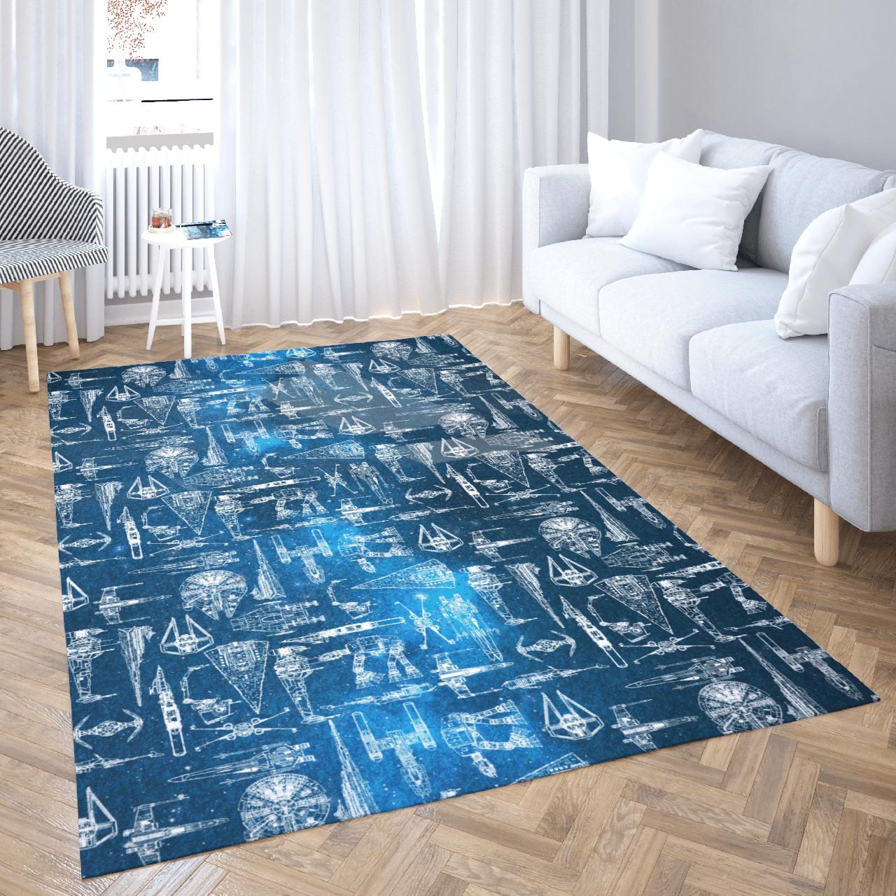 Star Wars spaceship rug