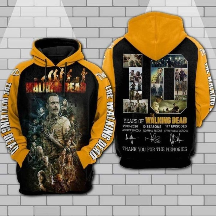 The walking dead anniversary 3d all over print hoodie 1