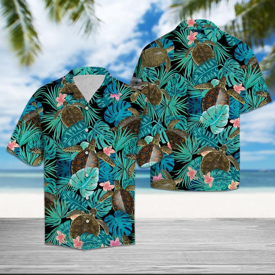 Tropical turtle hawaiian shirt1