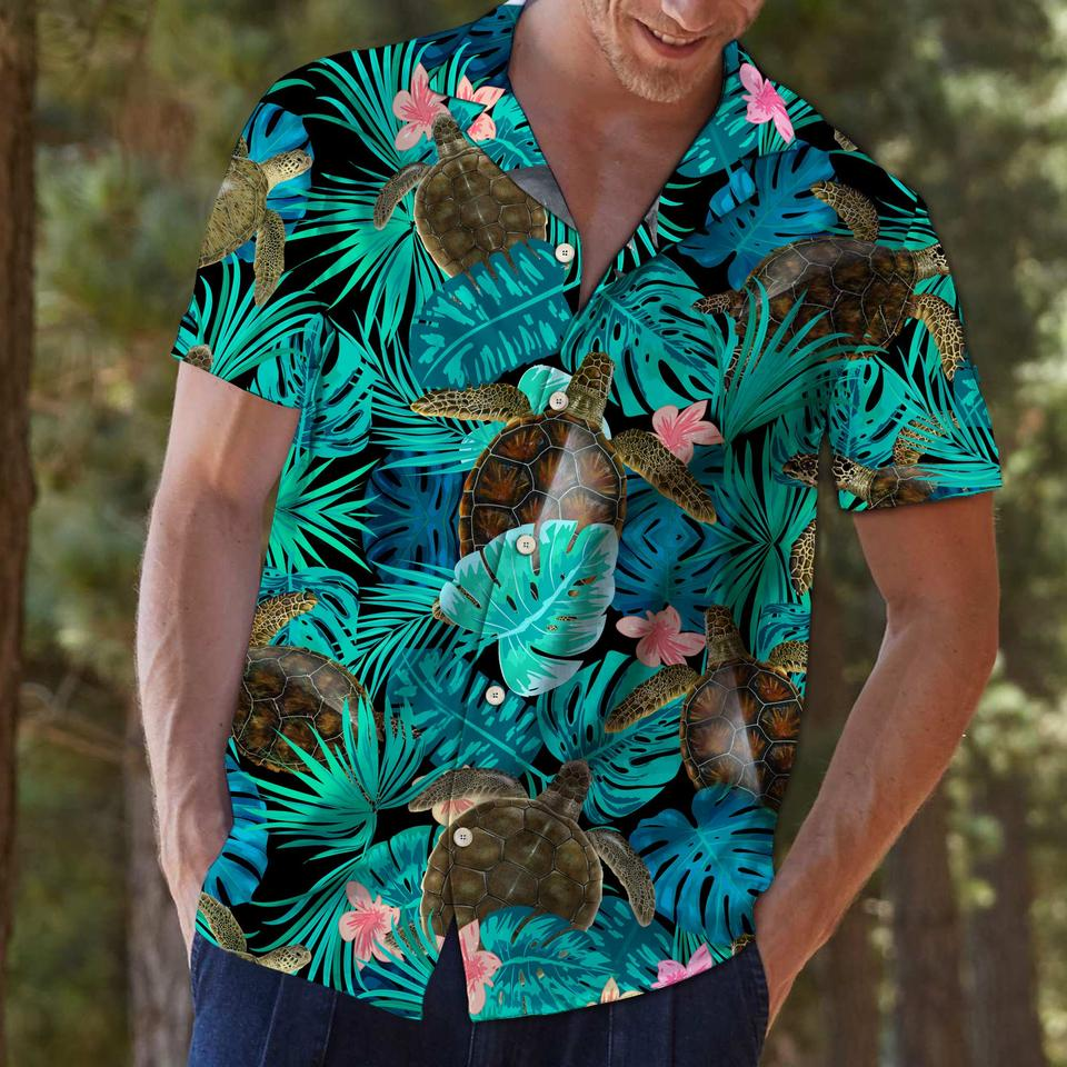 Tropical turtle hawaiian shirt2