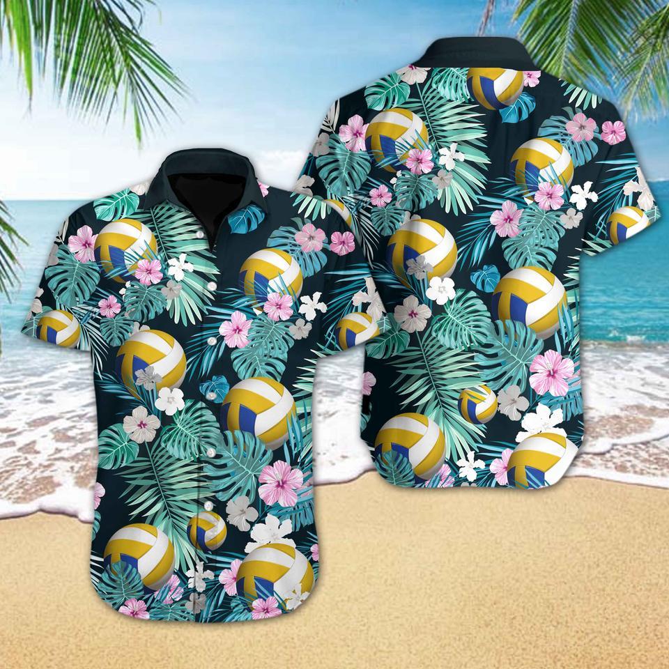 Volleyball flower hawaiian shirt