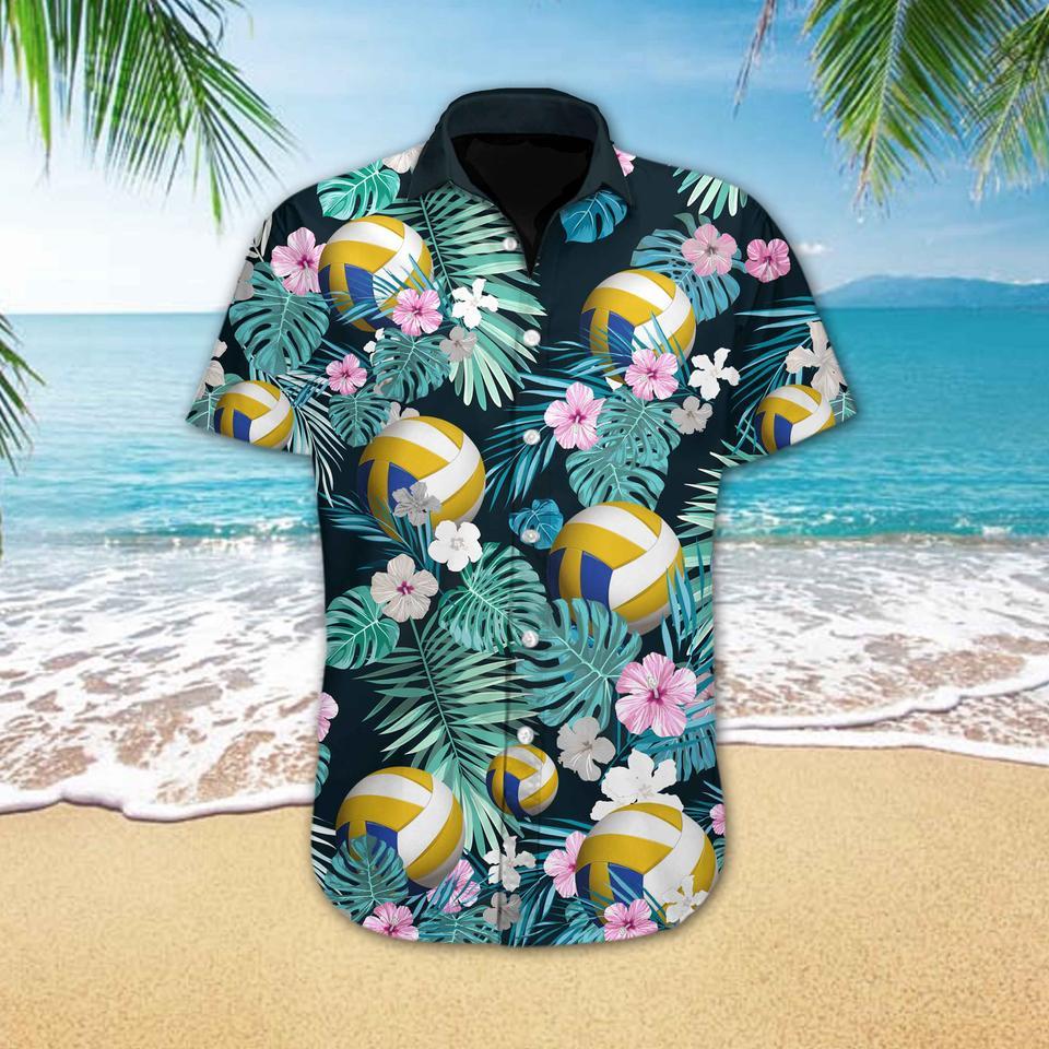 Volleyball flower hawaiian shirt2