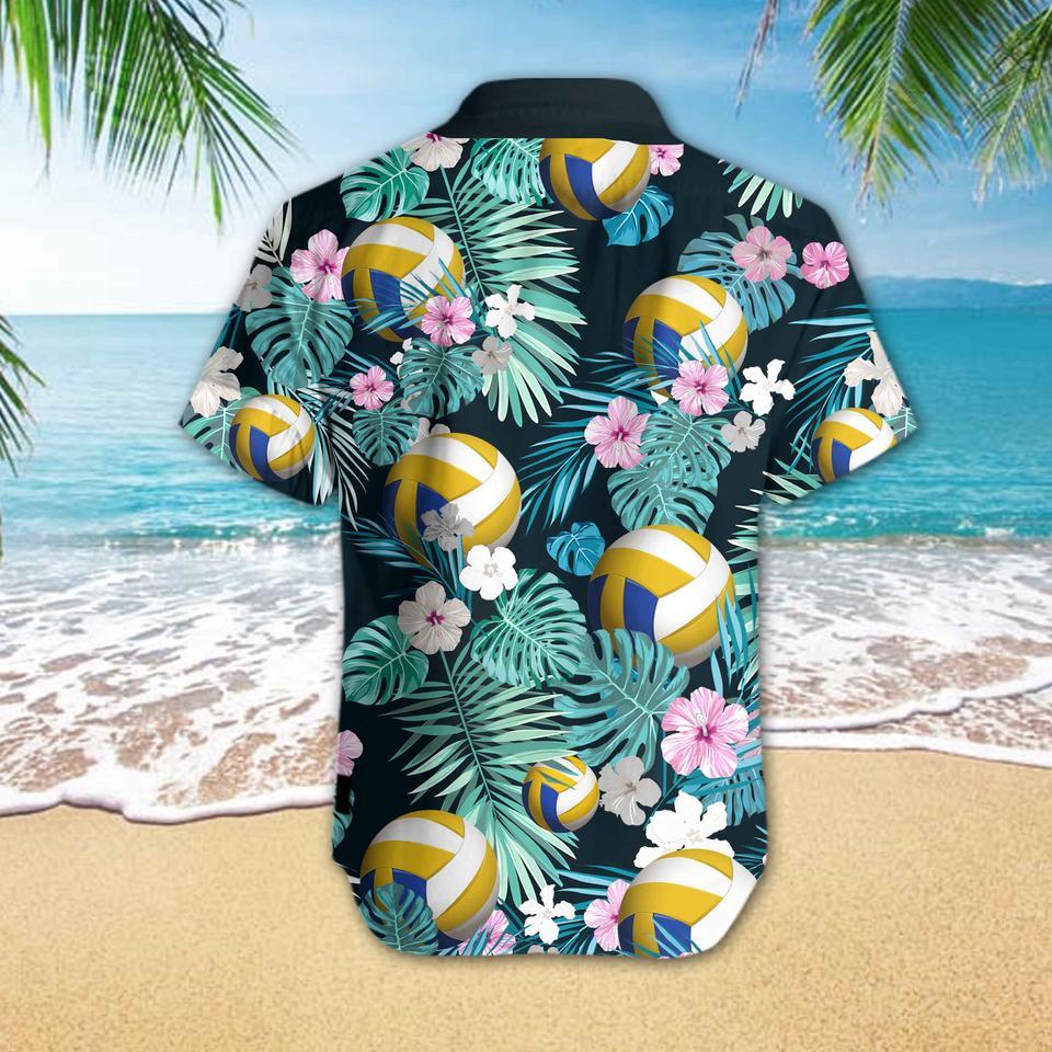 Volleyball flower hawaiian shirt3