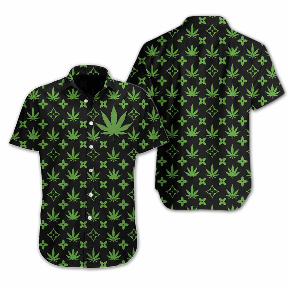Weed hawaiian shirt1