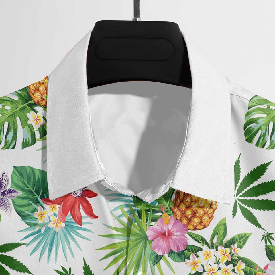 Weed tropical hawaiian shirt3