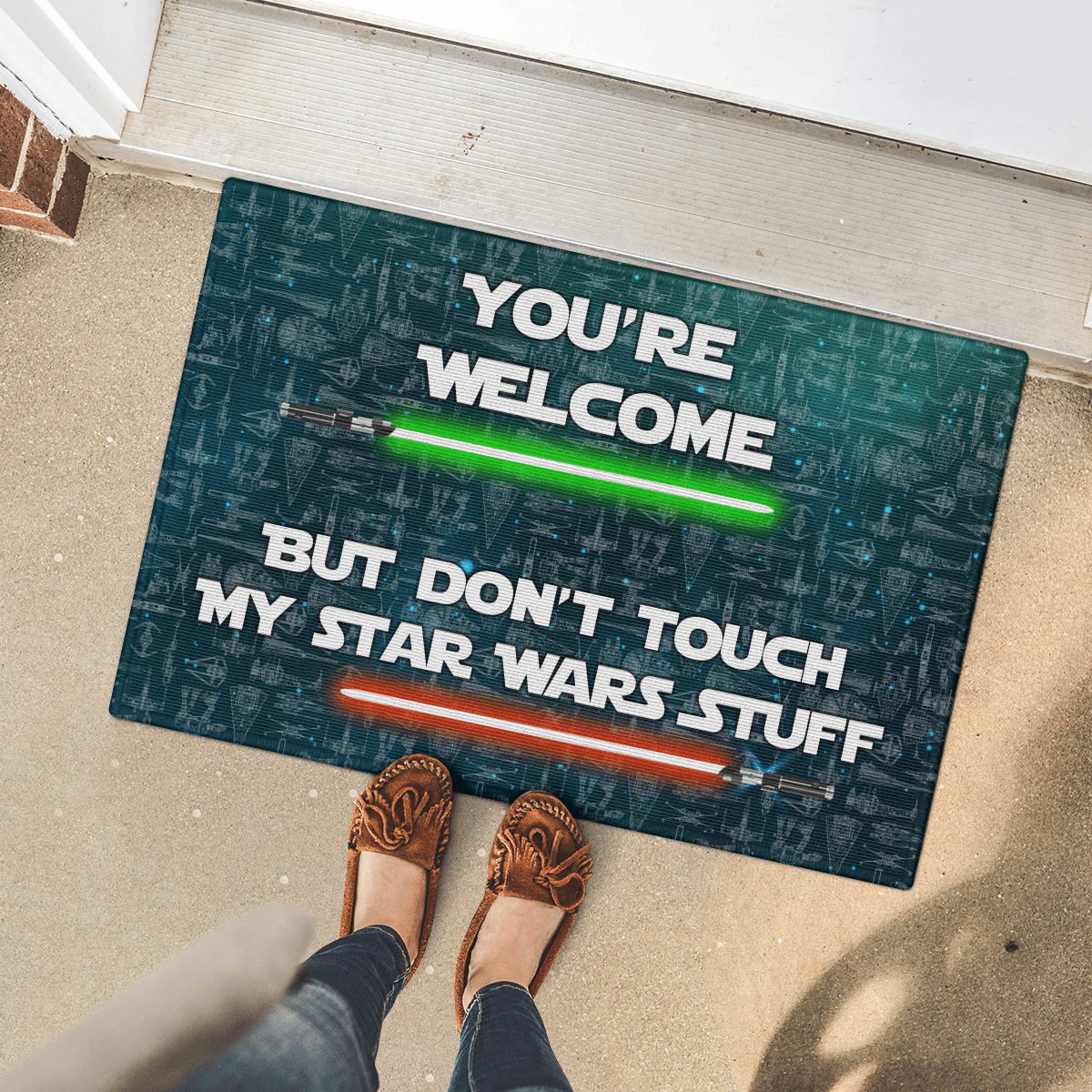 Your welcome but dont touch my star wars stuff doormat 2