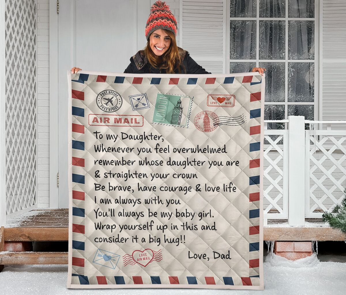 Air mail to my daughter rug