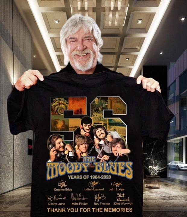 56 the moody blues years of 1964-2020 thank you for the memories shirt