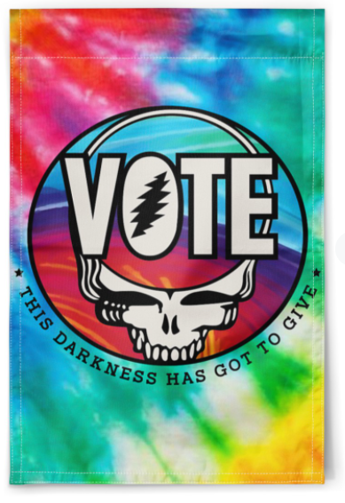 Grateful dead vote this darkness has got to give flag