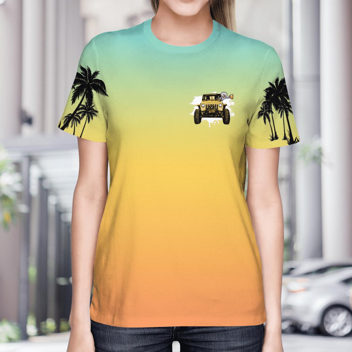 A jeep Gigi never gets old 3d T shirt 1