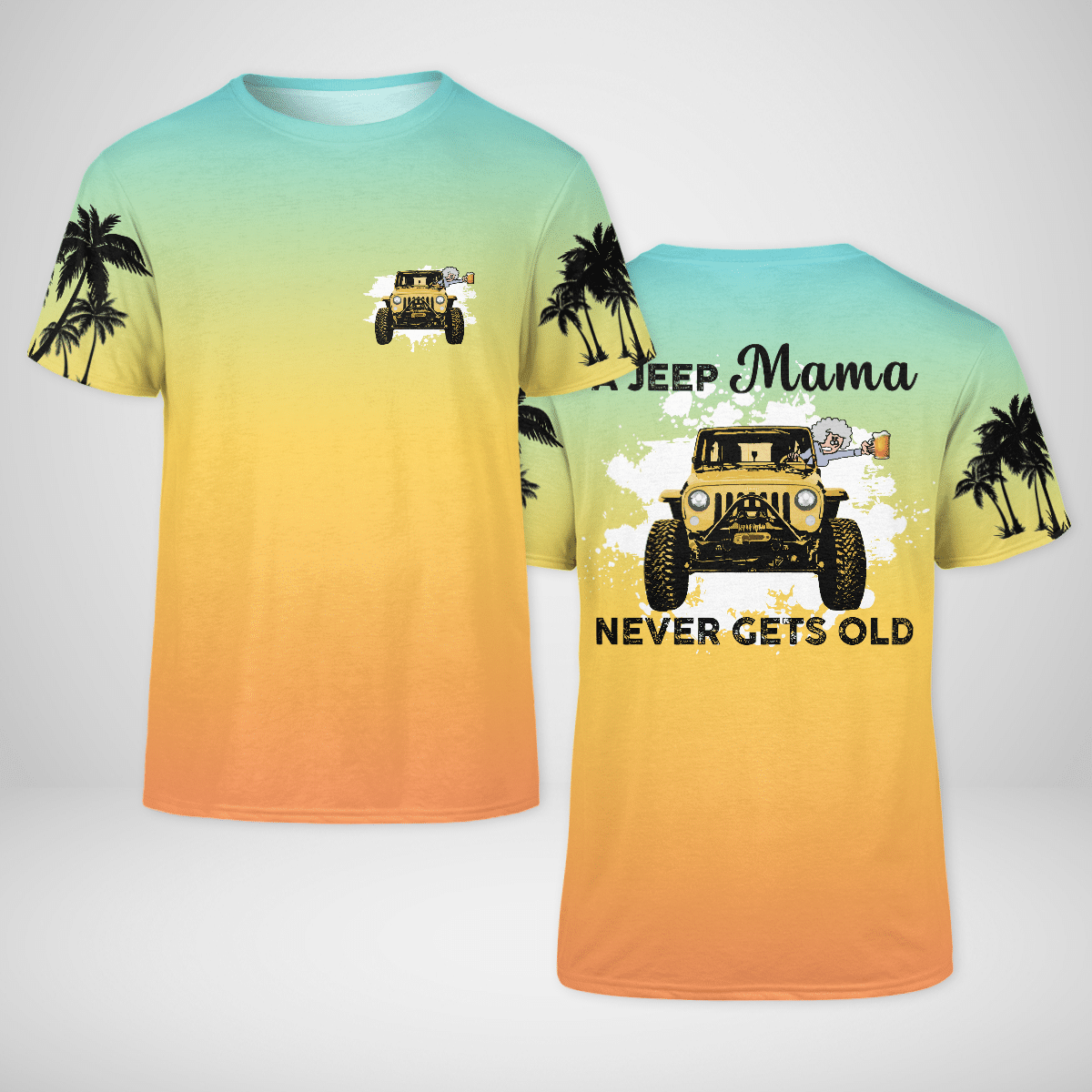 A jeep Mama never gets old 3d T shirt