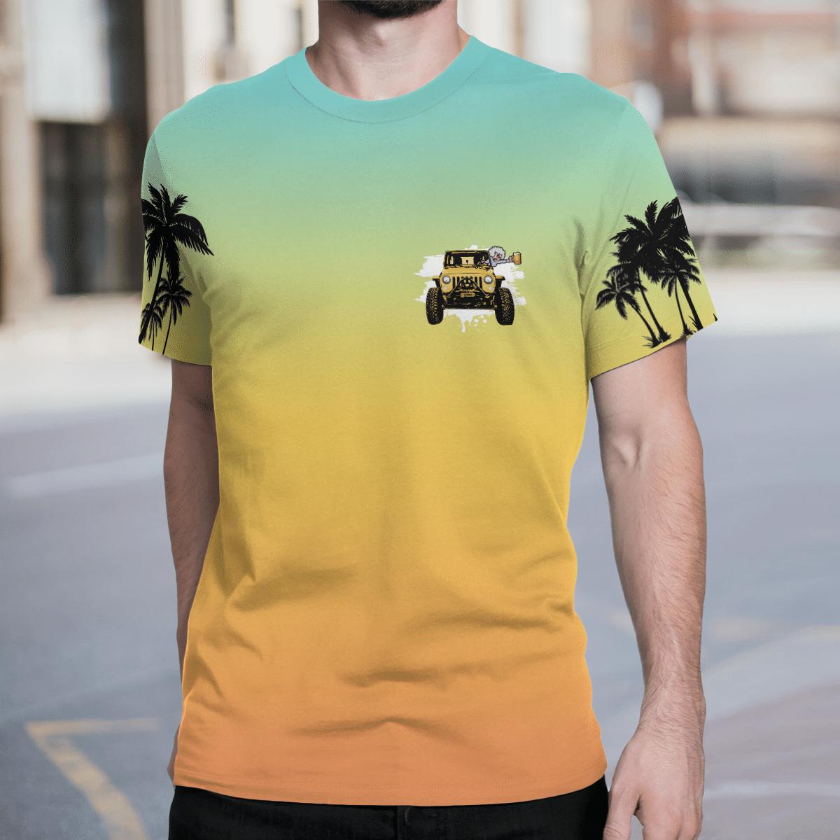A jeep Nana never gets old 3d T shirt 1