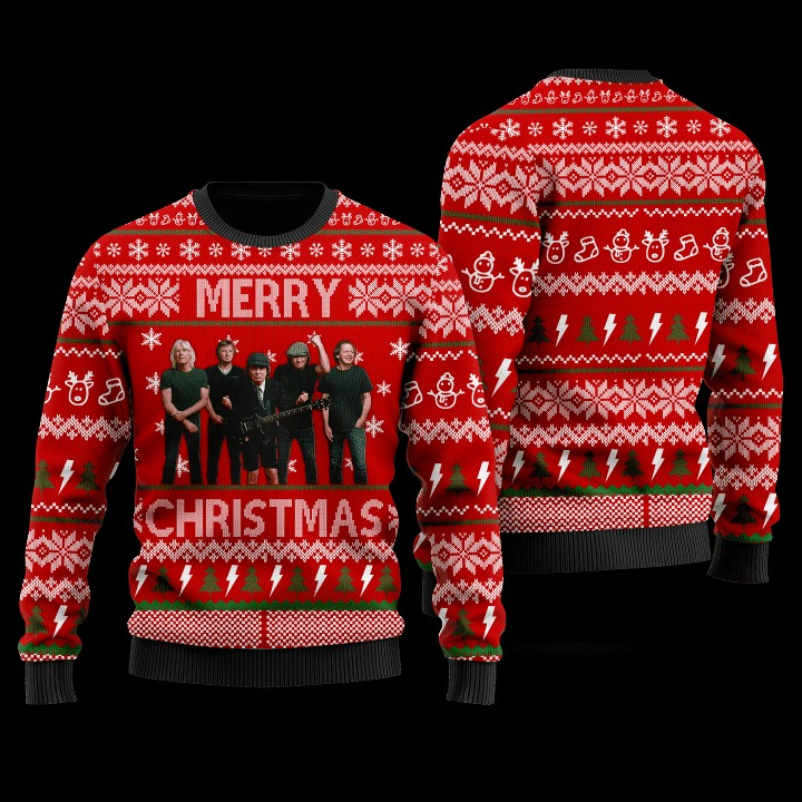 ACDC 48th anniversary 1973 2021 Christmas sweater 3