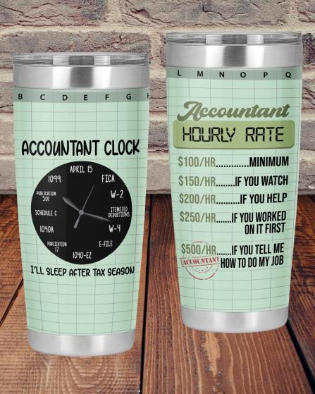 Accountant Hourly Rate Accountant Clock Tumbler1