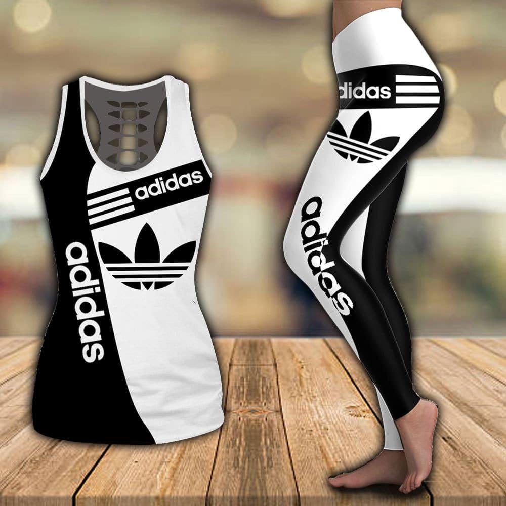 Adidas hollow tank top and legging 3