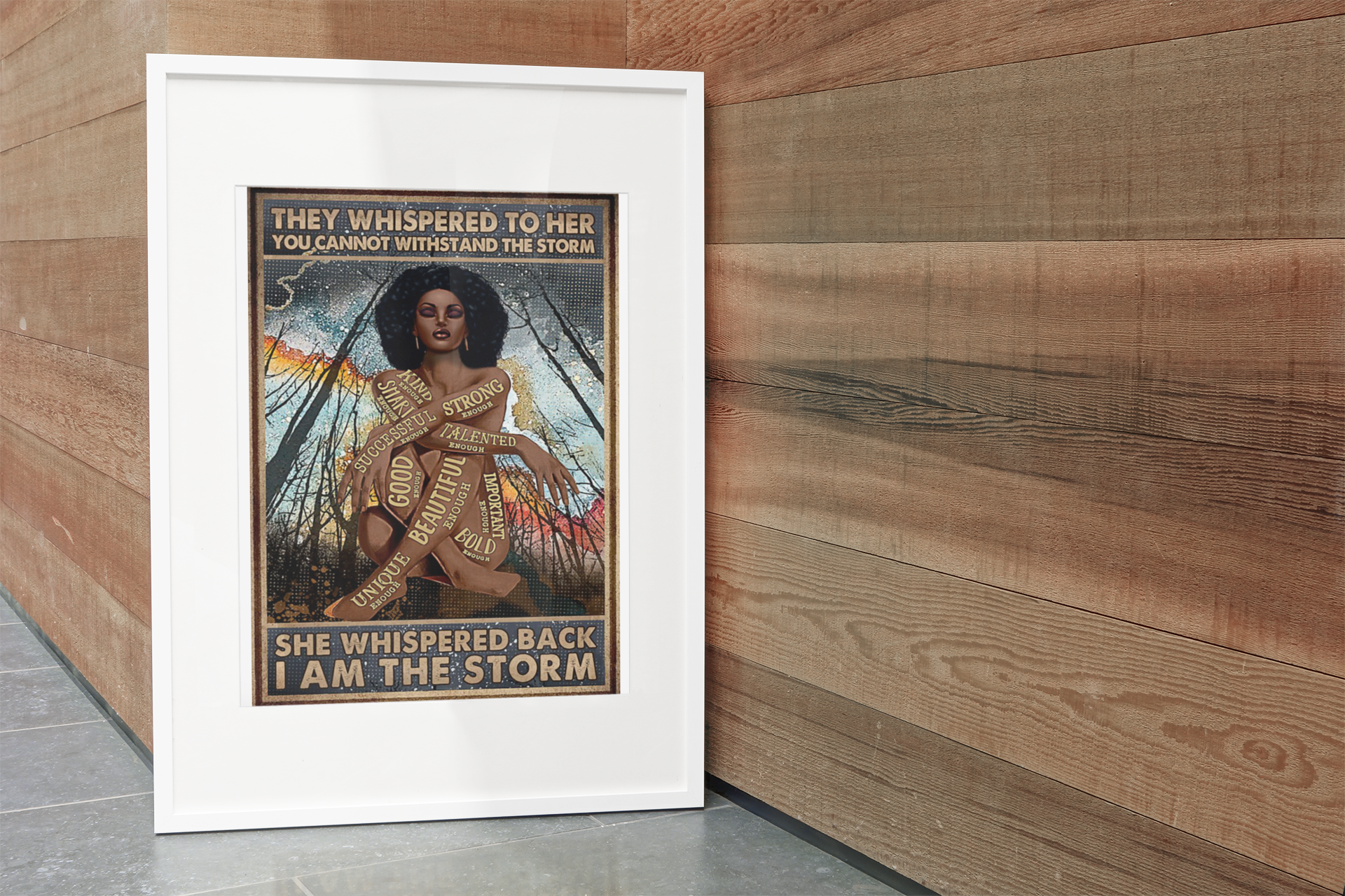 Africa Black girl They whispered to her you cannot withstand the storm poster10