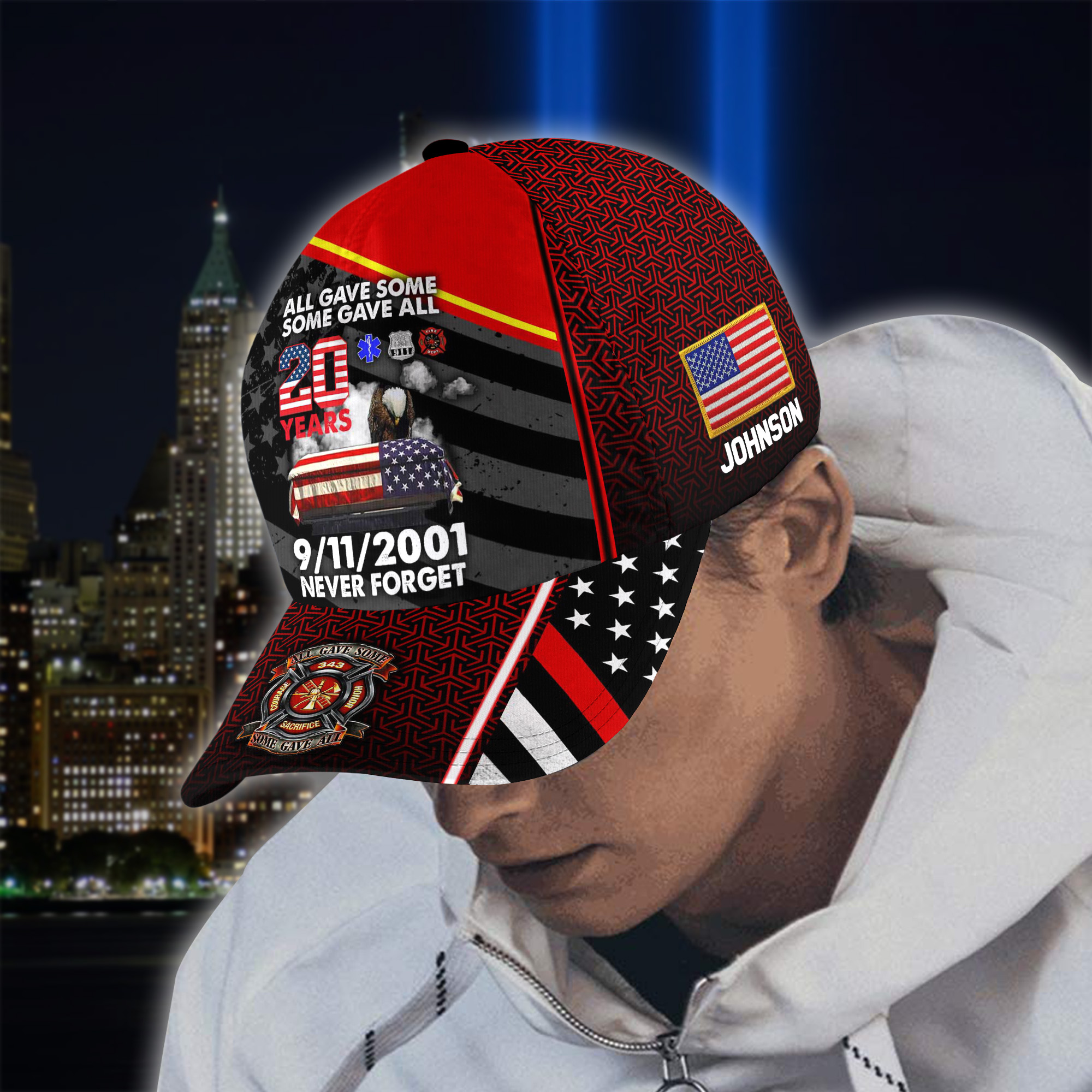 All Gave Some Some Gave All 20 Year Remembrace 9 11 2001 Never Forget custom name Cap 1