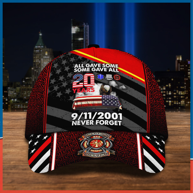 All Gave Some Some Gave All 20 Year Remembrace 9 11 2001 Never Forget custom name Cap
