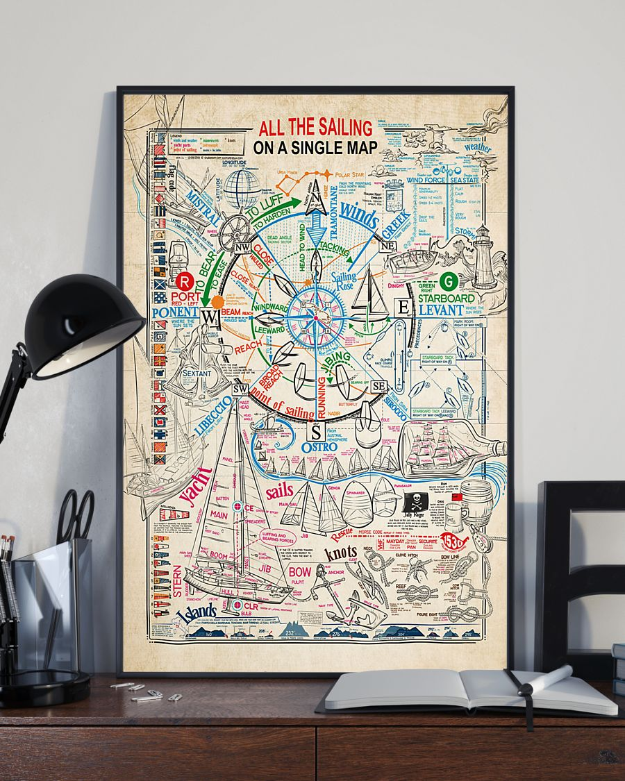 All the sailing on a single map poster 2
