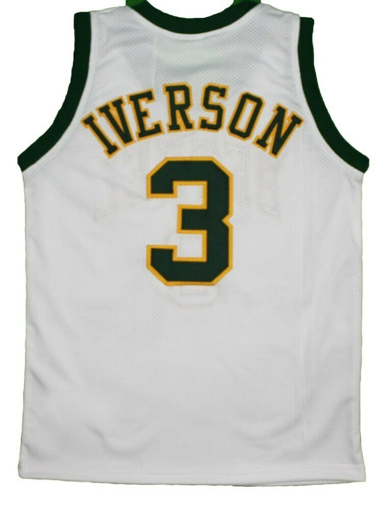 Allen Iverson 3 Bethel High School New Basketball Jersey White
