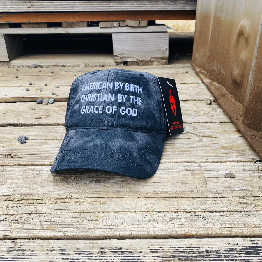 American By Birth Christian By The Grace Of God cap hat
