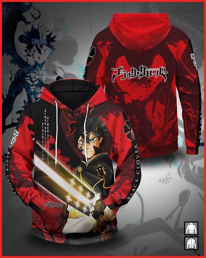 Anime Black Clover 3d over print hoodie shirt