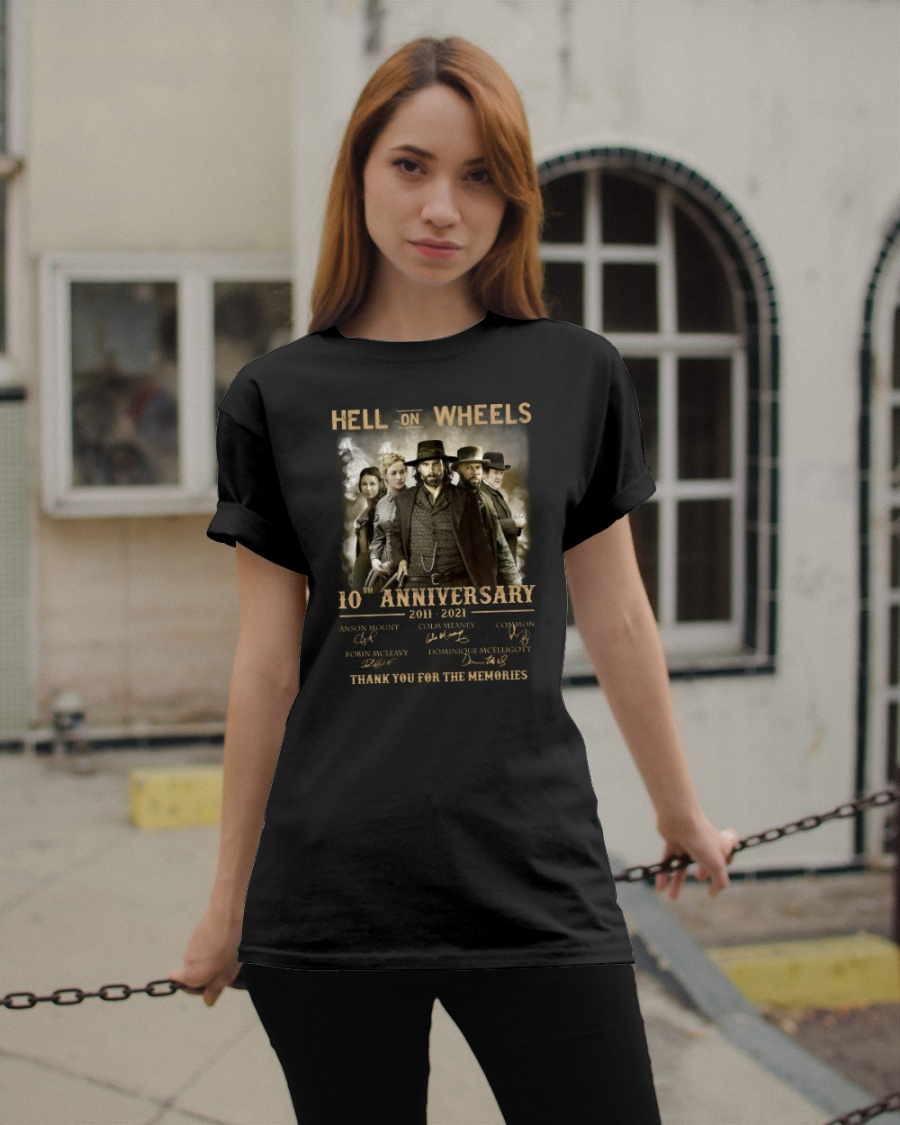 Anson Mount Colm Meaney Common Hell One Wheels 10th Anniversary Shirt