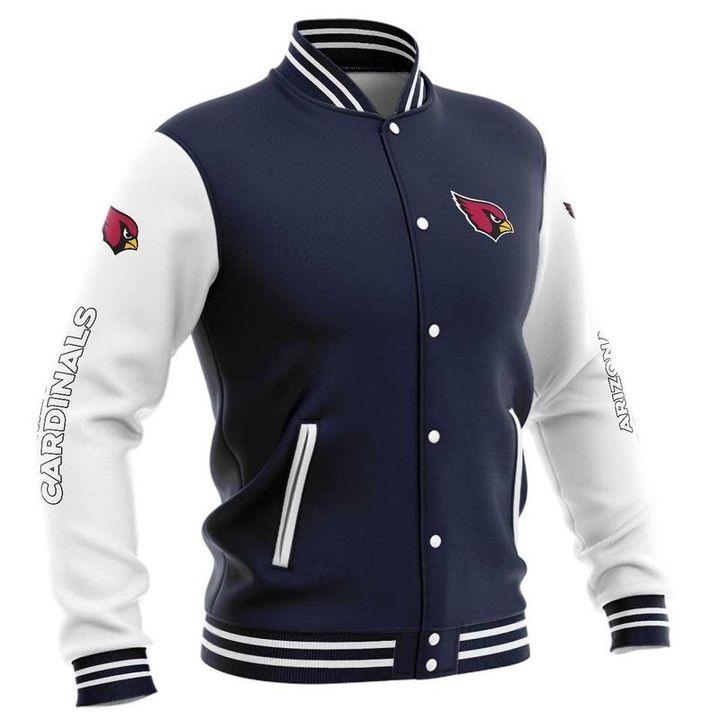 Arizona cardinals baseball button jacket 5