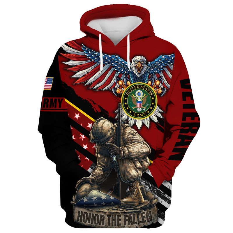 Army Veteran Eagle honor the fallen all gave some some gave all 3d hoodie and shirt 5